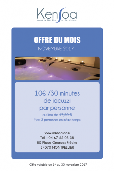 Jacuzzi SPA privatisé à Montpellier Port marianne Hotel de ville